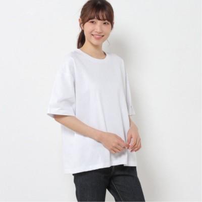 コットンドロップワイドTシャツ ホワイト M L XL