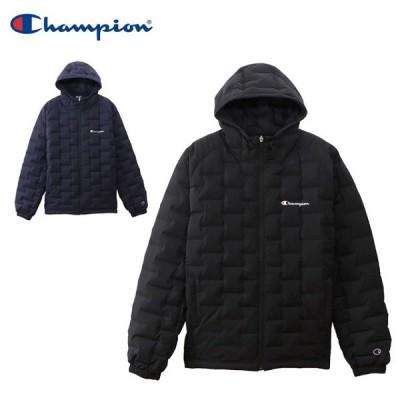 チャンピオン メンズ ジップ フード ダウン ジャケット アウター 防寒 コート ジャンバー Champion C3QS602