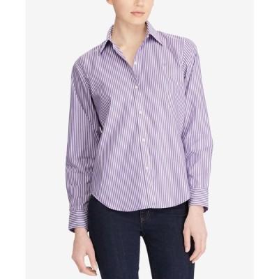 ラルフローレン レディース シャツ トップス Long-Sleeve Non-Iron Shirt Regular & Petite Sizes