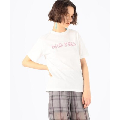 tシャツ Tシャツ コットンロゴプリント クルーネックプルオーバー