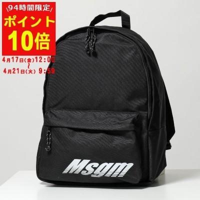 MSGM エムエスジーエム 2740 MZ200 99 リュックサック ロゴ プリント バックパック 99/ブラック ユニセックス 鞄 メンズ