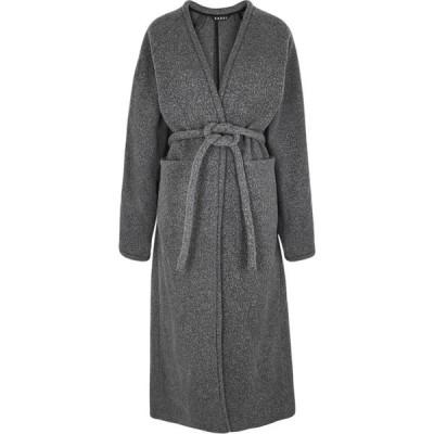 カッスル エディションズ Kassl Editions レディース コート ラップコート アウター V Wrap Grey Belted Wool-Blend Coat Grey