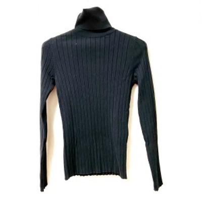 セオリーリュクス theory luxe 長袖セーター サイズ38 M レディース - 黒 タートルネック【還元祭対象】【中古】20210310