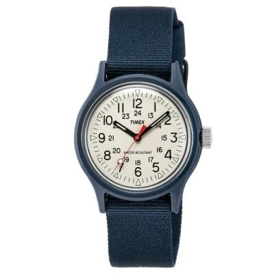 アウトドアウォッチ・時計 タイメックス オリジナルキャンパー36mm アイボリー×ネイビー
