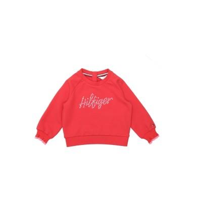 YOOX - トミーヒルフィガー TOMMY HILFIGER スウェットシャツ レッド 24 オーガニックコットン 95% / ポリウレタン 5%