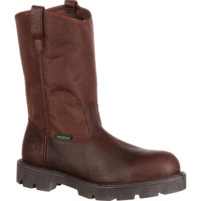 ジョージアブーツ Georgia Boot メンズ ブーツ ウェリントンブーツ シューズ・靴 Homeland Steel Toe Waterproof Wellington brown