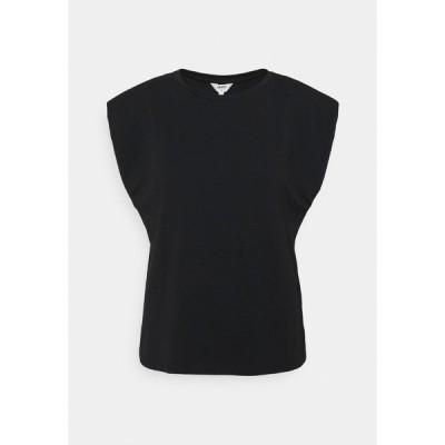 オブジェクト Tシャツ レディース トップス OBJSTEPHANIE JEANETTE - Basic T-shirt - black