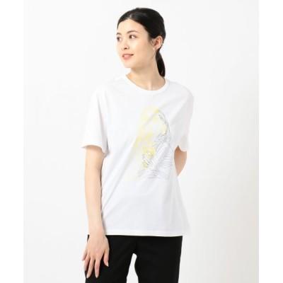 L size ONWARD(大きいサイズ)/エルサイズオンワード 【伊藤心さんコラボ】Collabo Tシャツ ホワイト系1 XL