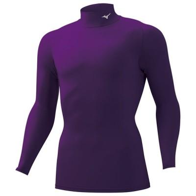 スポーツ用インナー ミズノ バイオギアシャツ(ハイネック長袖) メンズ S 68(インぺパープル)