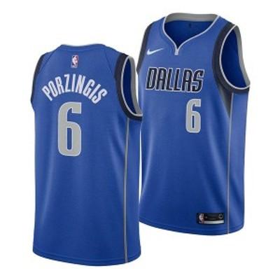 ナイキ メンズ ユニフォーム トップス Men's Kristaps Porzingis Dallas Mavericks Icon Swingman Jersey Blue