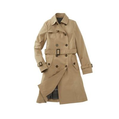 大きいサイズ ストレッチトレンチコート(はっ水加工) ,スマイルランド, コート, plus size coat