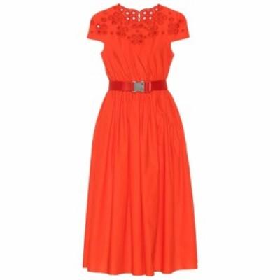 フェンディ Fendi レディース ワンピース ワンピース・ドレス Belted cotton dress Bahamas
