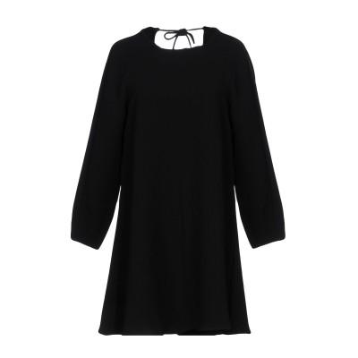 WON HUNDRED ミニワンピース&ドレス ブラック 34 ポリエステル 96% / ポリウレタン 4% ミニワンピース&ドレス