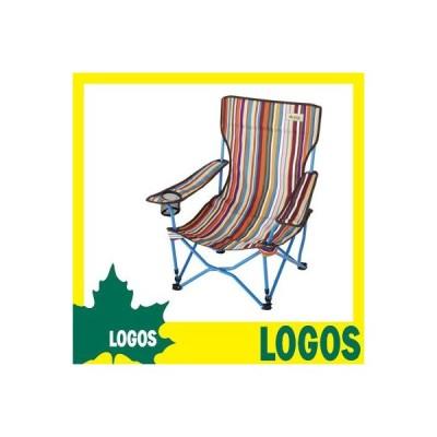 折りたたみ椅子 ロゴス LOGOS ストライプヒーリングチェアー・ポケットプラス イス 椅子 折り畳み椅子 折りたたみチェアー レジャーチェアー コンパクト