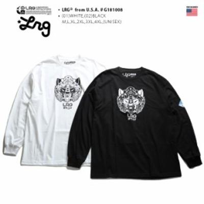 エルアールジー LRG ロンT 【G181008】 メンズ レディース Tシャツ 長袖 かっこいい おしゃれ 袖プリント ロボットアニメ 白黒 M L XL 2L