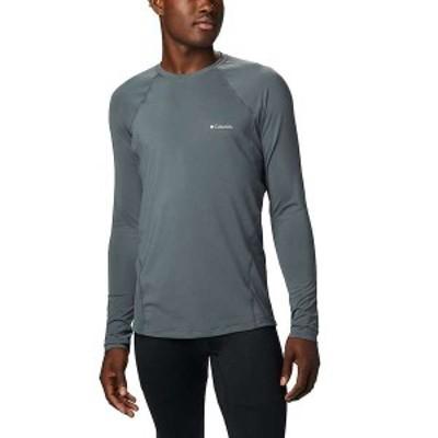 コロンビア メンズ Tシャツ トップス Columbia Men's Midweight Stretch Long Sleeve Top Graphite
