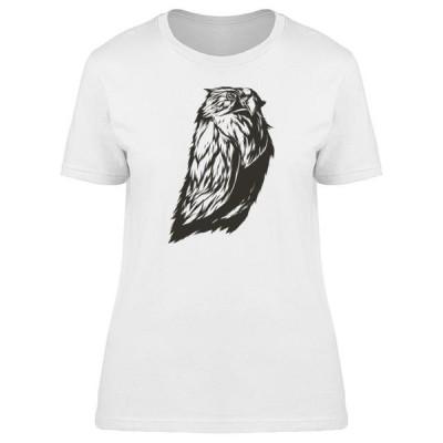 レディース 衣類 トップス Cool Grunge Tribal Owl Tee Women's -Image by Shutterstock Tシャツ