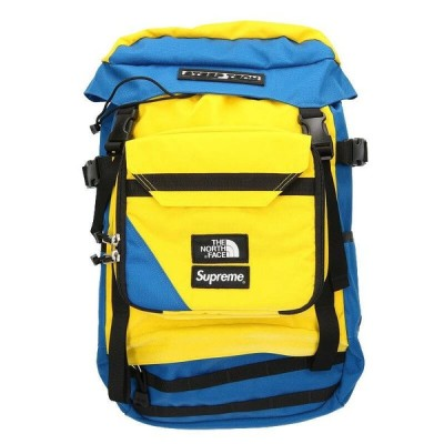 シュプリーム SUPREME ノースフェイス 16SS Steep Tech Backpack スティープテックバックパック ブルー×イエロー  OM10 中古