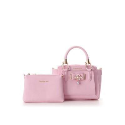 サマンサベガ ビジューリボンバッグ(ミニ) ピンク
