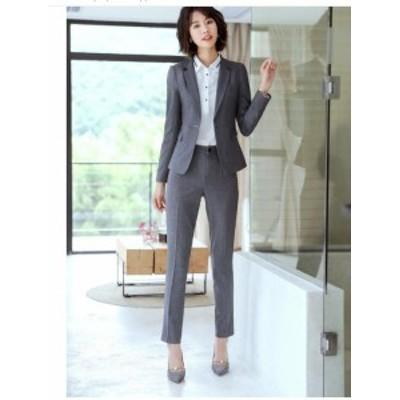 高品質 レディース4点セット ビジネススーツ 着痩せ 20代30代40代 七五三 事務服 卒業式 フォーマル 通勤 OL スカートスーツ