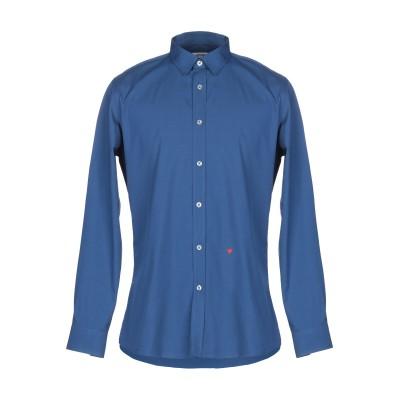 モスキーノ MOSCHINO シャツ ブルー 40 コットン 100% シャツ