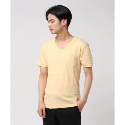 tシャツ Tシャツ 【 Healthknit / ヘルスニット 】スラブVネック半袖ポケットTシャツ 5223 SIP
