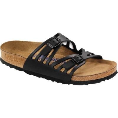 ビルケンシュトック サンダル レディース シューズ Granada Soft Footbed Leather Narrow Sandal - Women's Black Oiled Leather