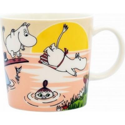 マグカップ MU-MIN DISHES 直径8×8cm 陶器製 水遊び 300ml ピンク色 5231027445