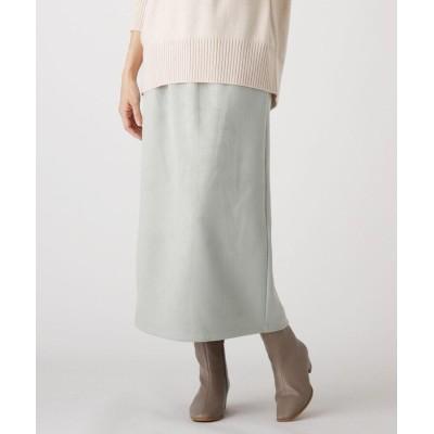 HusHusH(Ladies)(ハッシュアッシュ(レディース)) 【S-Lサイズ/手洗いOK】カットスエードロングスカート(セットアップ対応)