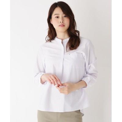 Lui Chantant(ルイシャンタン) ストライプバンドカラーシャツ