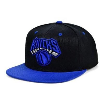 ミッチェル&ネス レディース 帽子 アクセサリー New York Knicks Black Royalty Snapback Cap Black/Blue