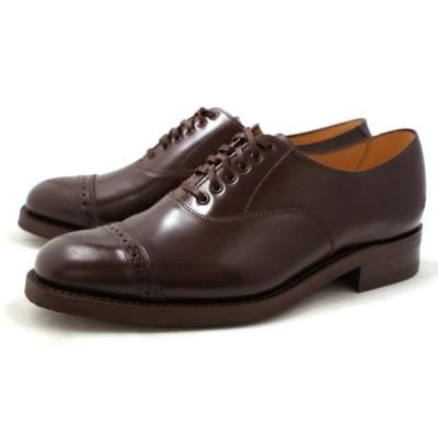 サンダース 靴 ミリタリー SANDERS 9910 MILITARY CAP TOE OXFORD [バーガンディ]