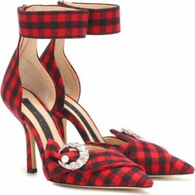 ミッドナイト 00 Midnight 00 レディース パンプス シューズ・靴 corset checked pumps Red