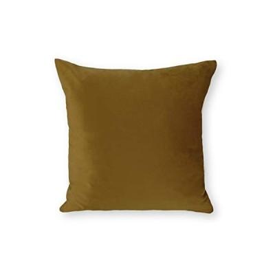 9色 ベルベット クッションカバー 無地 45cm (オリーブ) トレンド 人気 高級 おしゃれ イインテリア カラーバリエーション 45 45 深緑