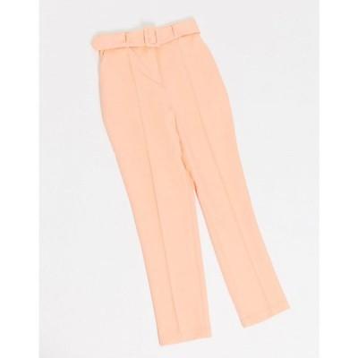 エイソス ASOS DESIGN レディース ボトムス・パンツ high waist belted cigarette trouser in pastel pop ピンク