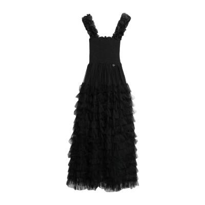 MANGANO ロングワンピース&ドレス ブラック M ポリエステル 100% ロングワンピース&ドレス