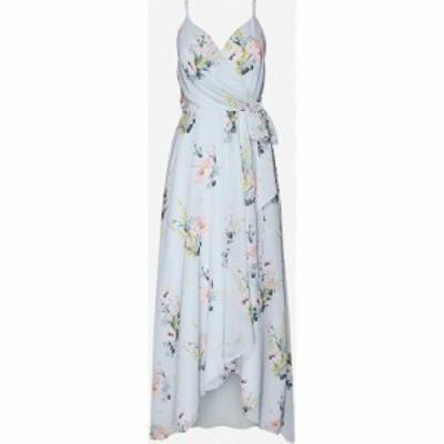 テッドベーカー TED BAKER レディース ワンピース ラップドレス ミドル丈 ワンピース・ドレス Floral-print wrap crepe midi dress LT-BL