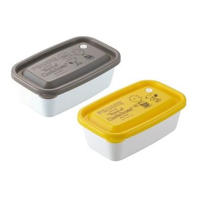 スヌーピー レンジパック 650ml 2個セット 保存容器 密閉 プラスチック容器 フードコンテナ 容器 ケース レンジ対応 冷蔵庫 日本製 OSK RP-65B