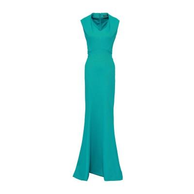 ZAC POSEN ロングワンピース&ドレス ターコイズブルー 6 ナイロン 48% / ポリエステル 48% / ポリウレタン 4% ロングワンピ