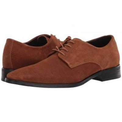 Calvin Klein カルバンクライン メンズ 男性用 シューズ 靴 オックスフォード 紳士靴 通勤靴 Ramses Tan Calf Suede【送料無料】