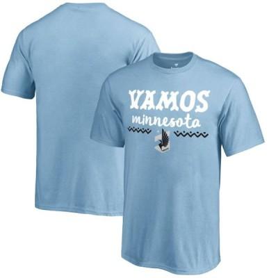 キッズ スポーツリーグ サッカー Minnesota United FC Fanatics Branded Youth Hispanic Heritage Let's Go T-Shirt - Light Blue Tシャツ