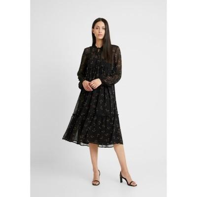 オブジェクト トール ワンピース レディース トップス OBJAVINAJA DRESS - Day dress - black