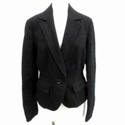 【中古】エニィスィス エニシス anySiS テーラードジャケット アウター ウール ラビット 1 S 黒 ブラック /KX