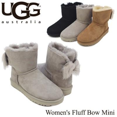 アグ UGG ウィメンズ フラッフ ボウ ミニ Women's Fluff Bow Mini ブーツ ショート[CC]