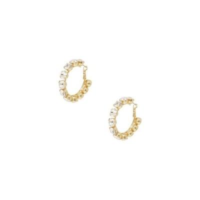エティカ レディース ピアス・イヤリング アクセサリー Small Crystal and 18K Gold Warrior Hoop Women's Earrings
