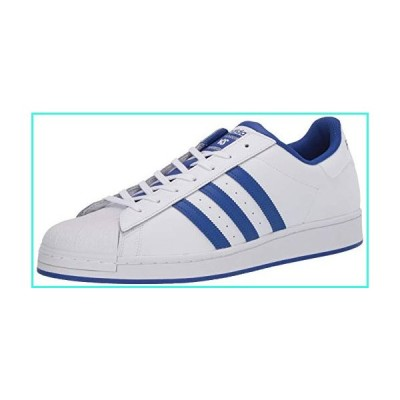【新品】adidas Originals Men's Superstar Sneaker, White/Bold Blue/Granite, 4(並行輸入品)
