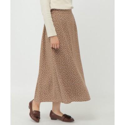 スカート ランダムドットプリントスカート