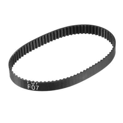 uxcell タイミングベルト ゴム材質 63MXL 閉ループ 79歯 幅6mm 円周160.528mm ブラック