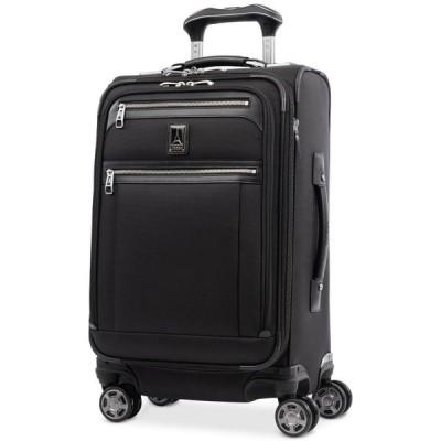 """トラベルプロ Travelpro メンズ スーツケース・キャリーバッグ バッグ Platinum Elite 21"""" Softside Carry-On Spinner Suitcase Shadow Black"""