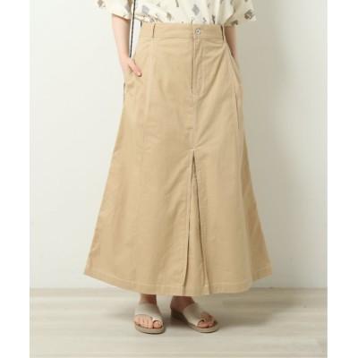 (DOUBLE NAME/ダブルネーム)配色ステッチAラインスカート/レディース ベージュ